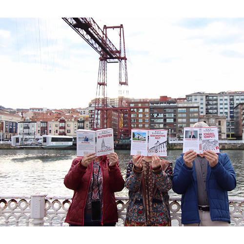 Sonja und Family in Puente de Vizcaya, Bilbao