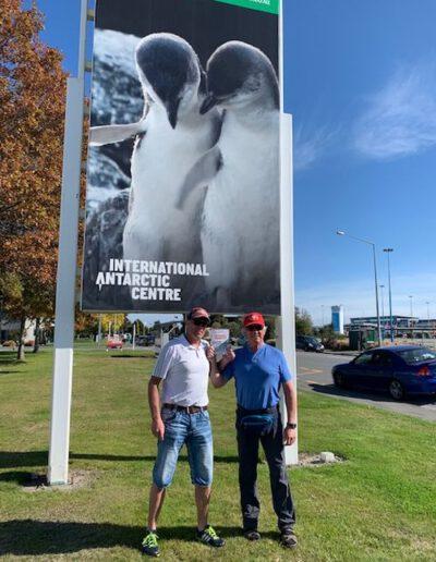 Frank und  Jürgen in Christchurch, Neuseeland